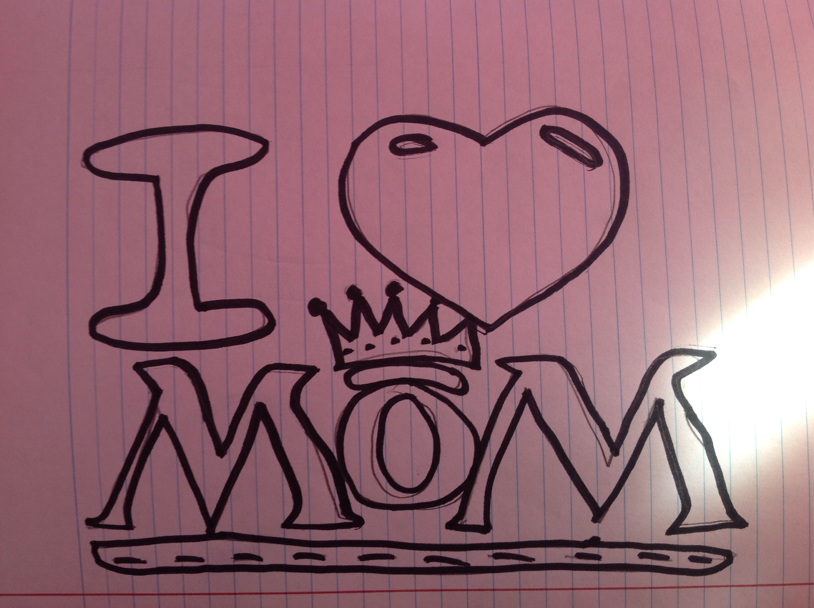 2592x1936 How To Draw Mom Graffiti How To Draw Best Mom With A Heart