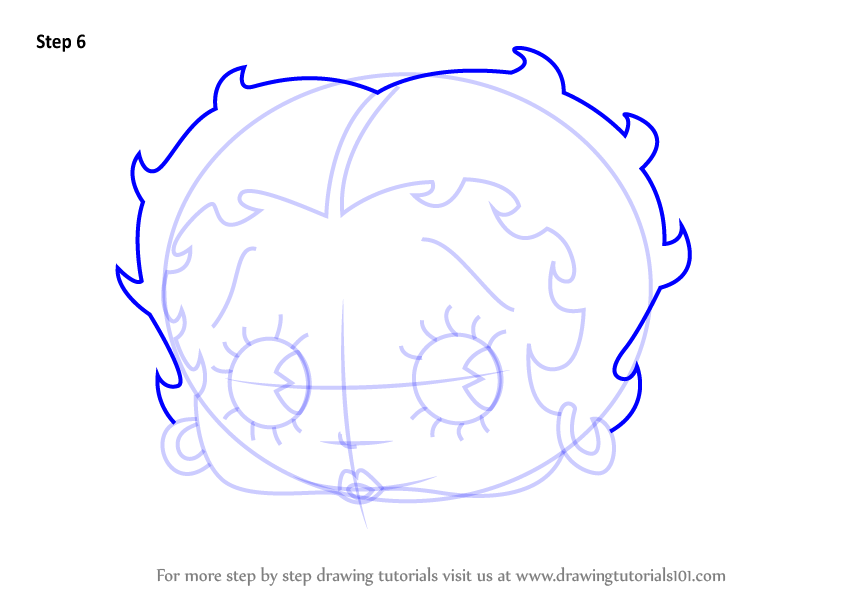 844x598 Learn How To Draw Betty Boop Face (Betty Boop) Step By Step