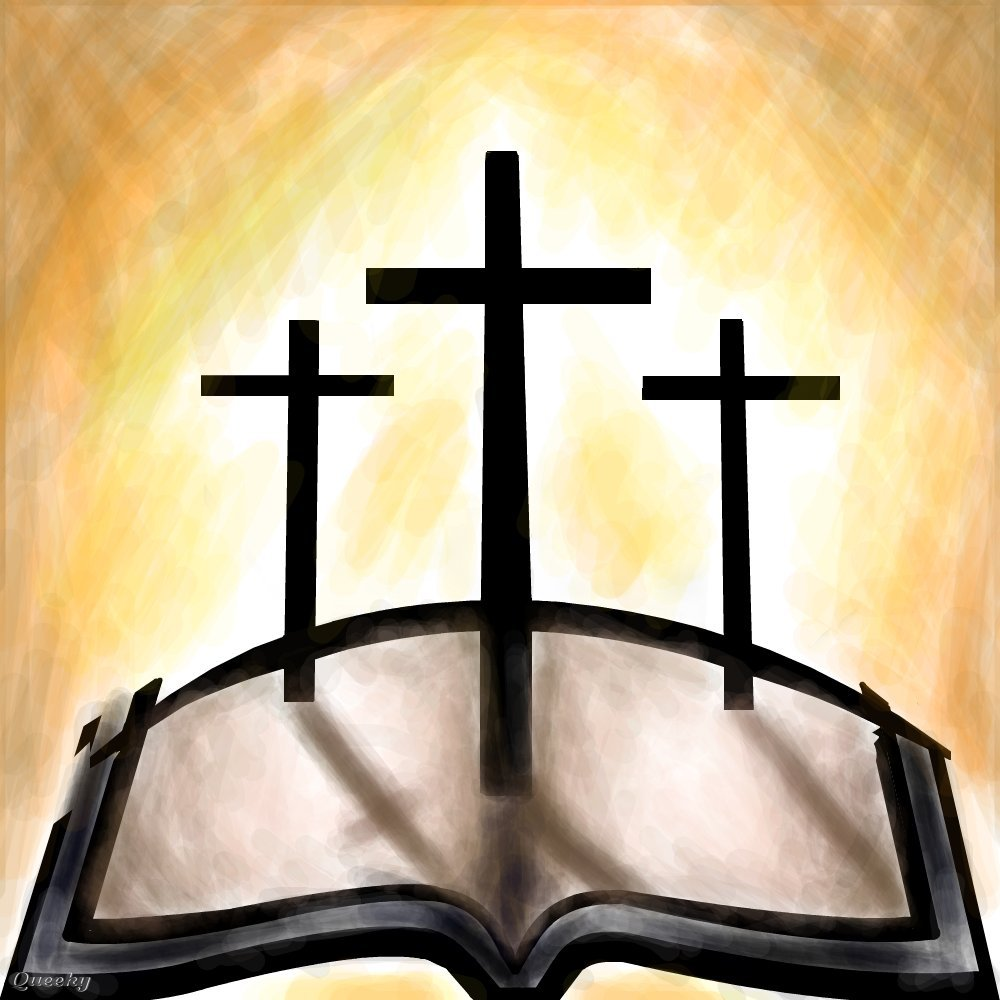 1000x1000 3 Crossess On The Holy Bible. A Other Speedpaint Drawing By