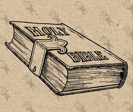 570x480 Vintage Image The Holy Bible Book Retro Drawing Picture