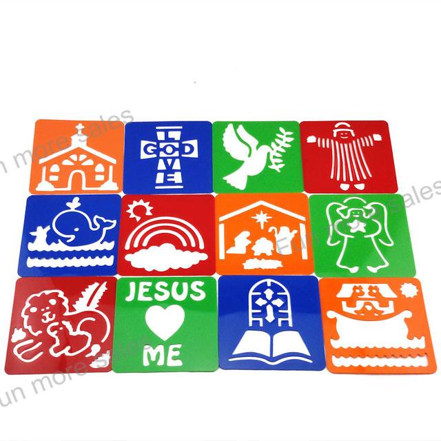 640x640 12designsset Bible Story Stencils Diy Kids Drawing Templates