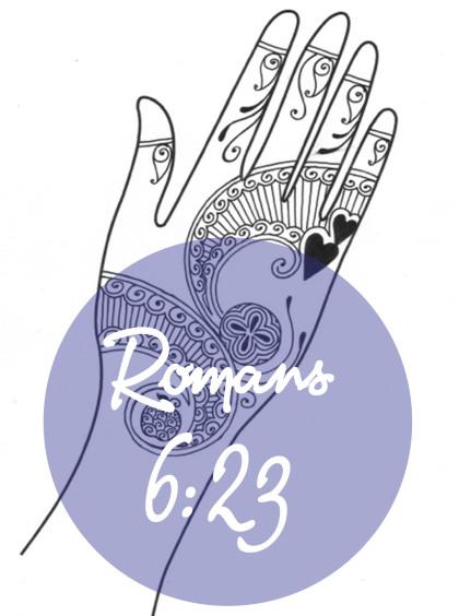 420x564 Bible Stories Amp Verses With Henna. Romans 623 Artsiness