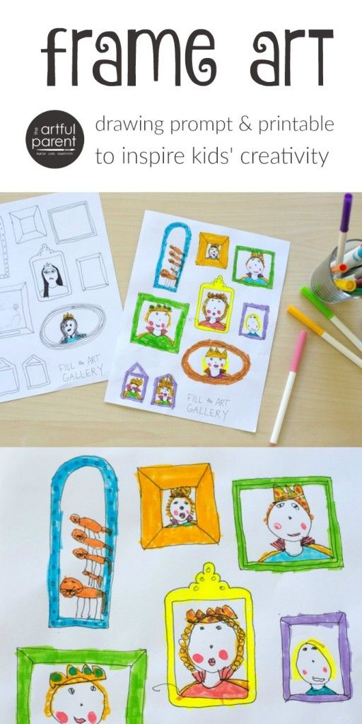 512x1024 Inspire Your Kids Creativity With A Frame Art Drawing Prompt