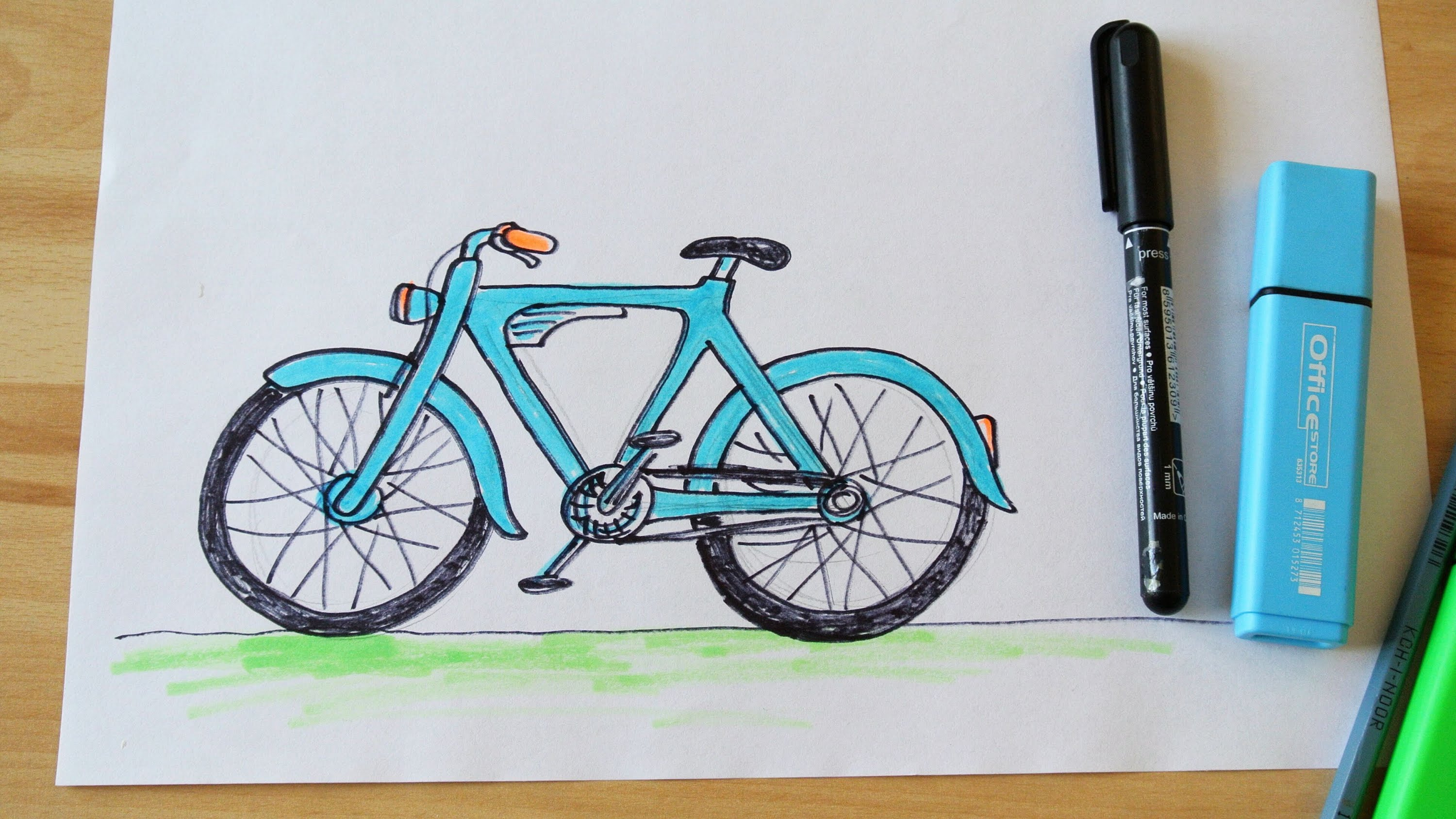 Bicycle Drawing Easy At Getdrawings Com Free For Personal Use