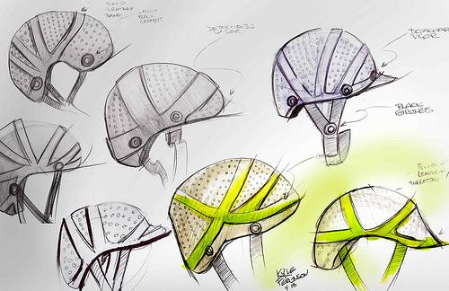 500x324 Bicycle Helmet Concept Sketches