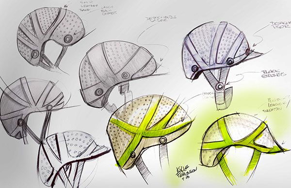 600x388 Cork Bicycle Helmet Concept For Lacoste On Industrial Design