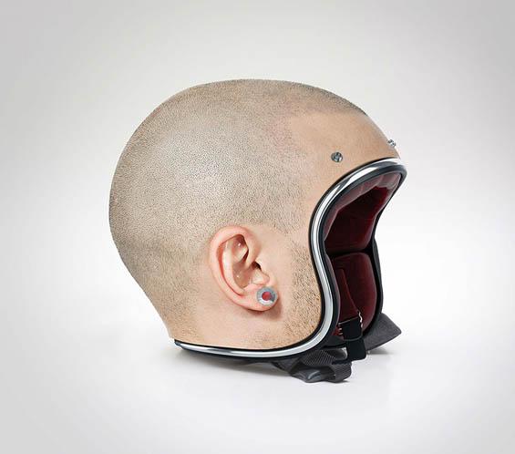 565x498 Designer Creates Bike Helmets That Look Like Their Owners' Heads