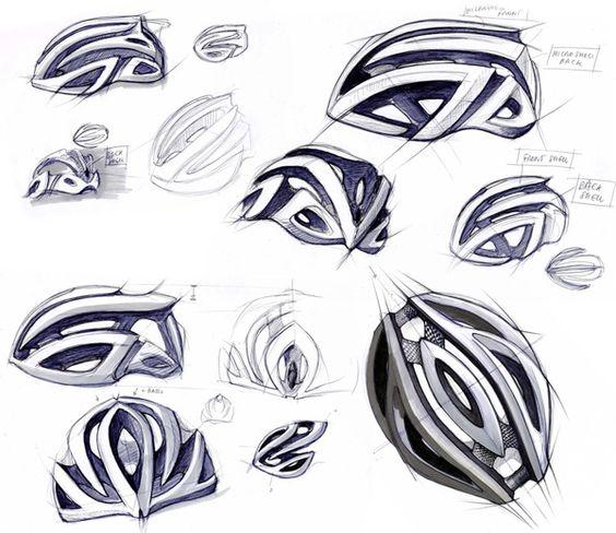 564x488 Bike Helmet Sketch