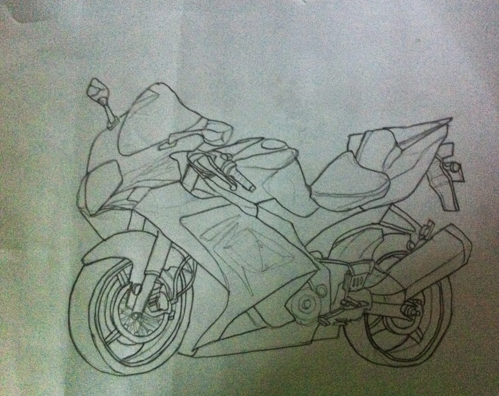 1600x1271 Pencil Sketch Bike 4 Best Drawing Techniques To Make Pencil
