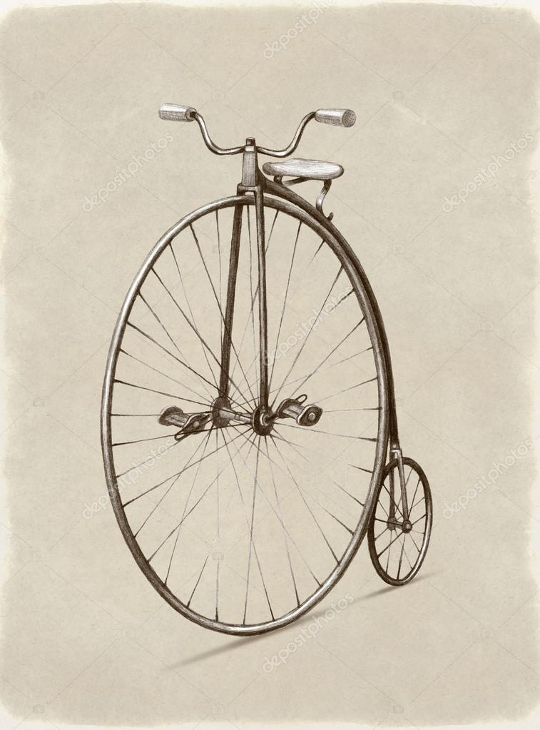 Bicycle Pencil Drawing at GetDrawings com | Free for