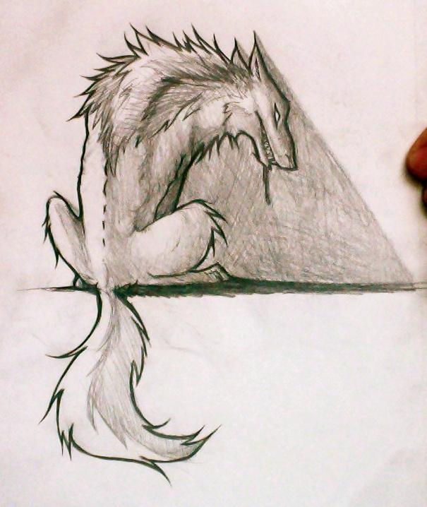 605x718 Sketch 5 Big Bad Wolf By Sasquatcheron