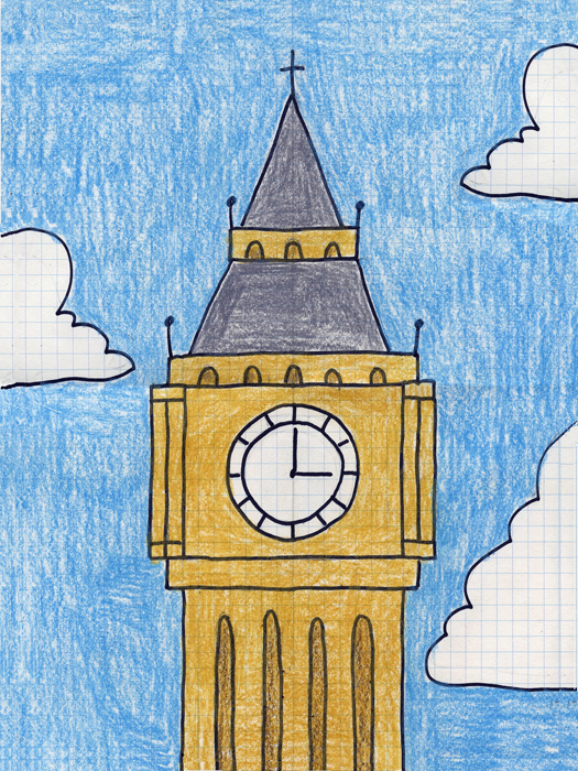 525x700 Draw Big Ben