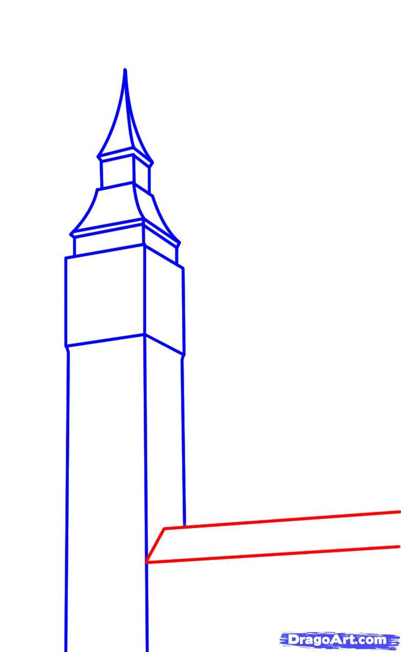 783x1272 How To Draw Big Ben, Step By Step, Famous Places, Landmarks