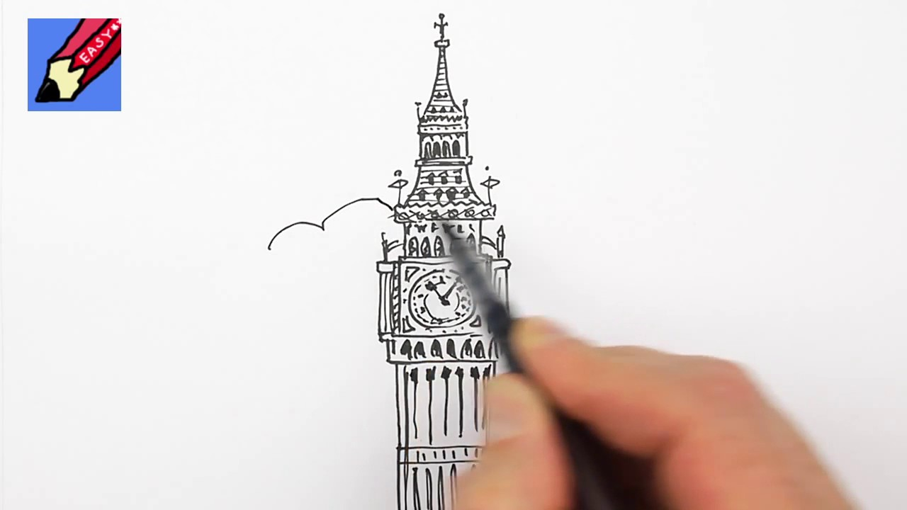 1280x720 How To Draw Londons Big Ben Elizabeth Tower Real Easy For Kids