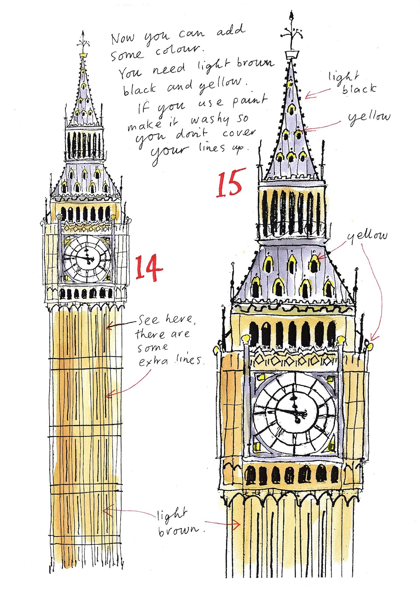 1455x2040 How To Big Ben Big Ben, Big And Sketches