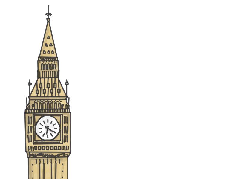 800x600 Sketch Of Big Ben By Daniel T!ller