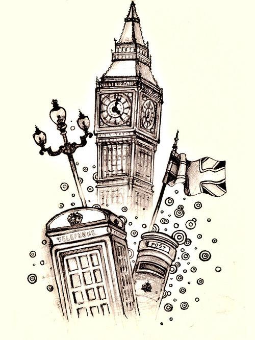 500x667 Big Ben Drawing Tumblr