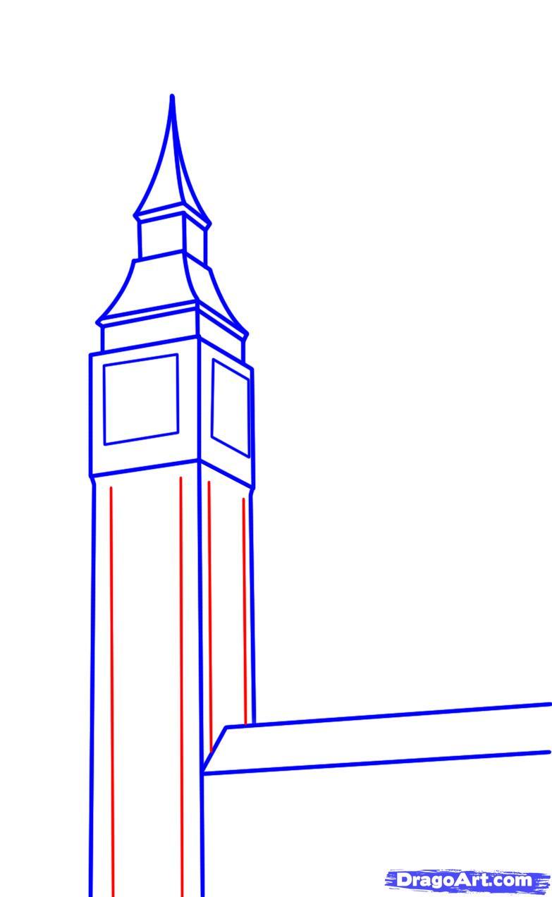 783x1272 How To Draw Big Ben Step 12 Big Ben Big Ben, Big