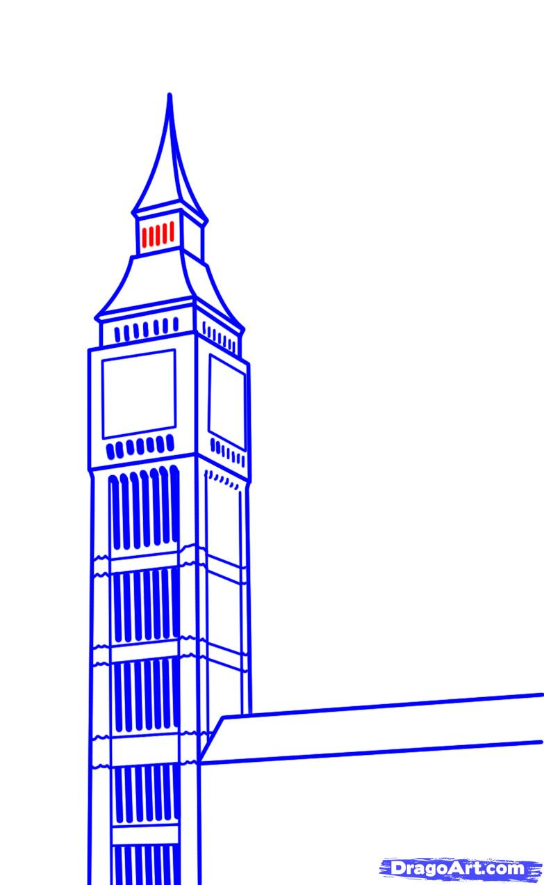 783x1272 How To Draw Big Ben Step 17 Junior Cert Project