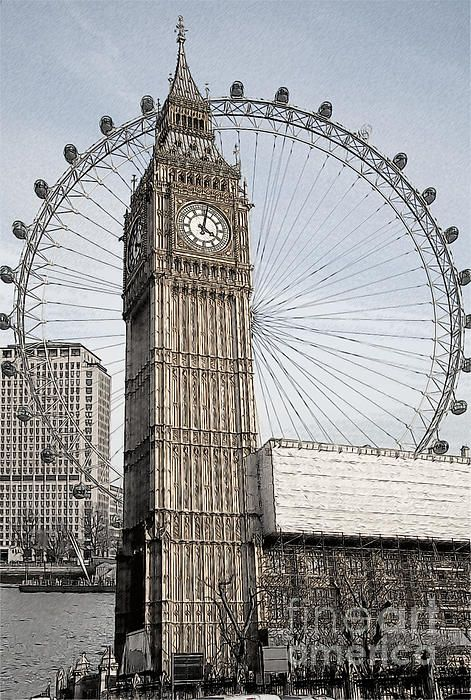 471x700 Big Ben And London Eye By Donald Davis Art Things