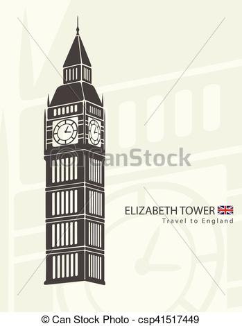 349x470 Elizabeth Tower Clock Big Ben In London Eps Vector