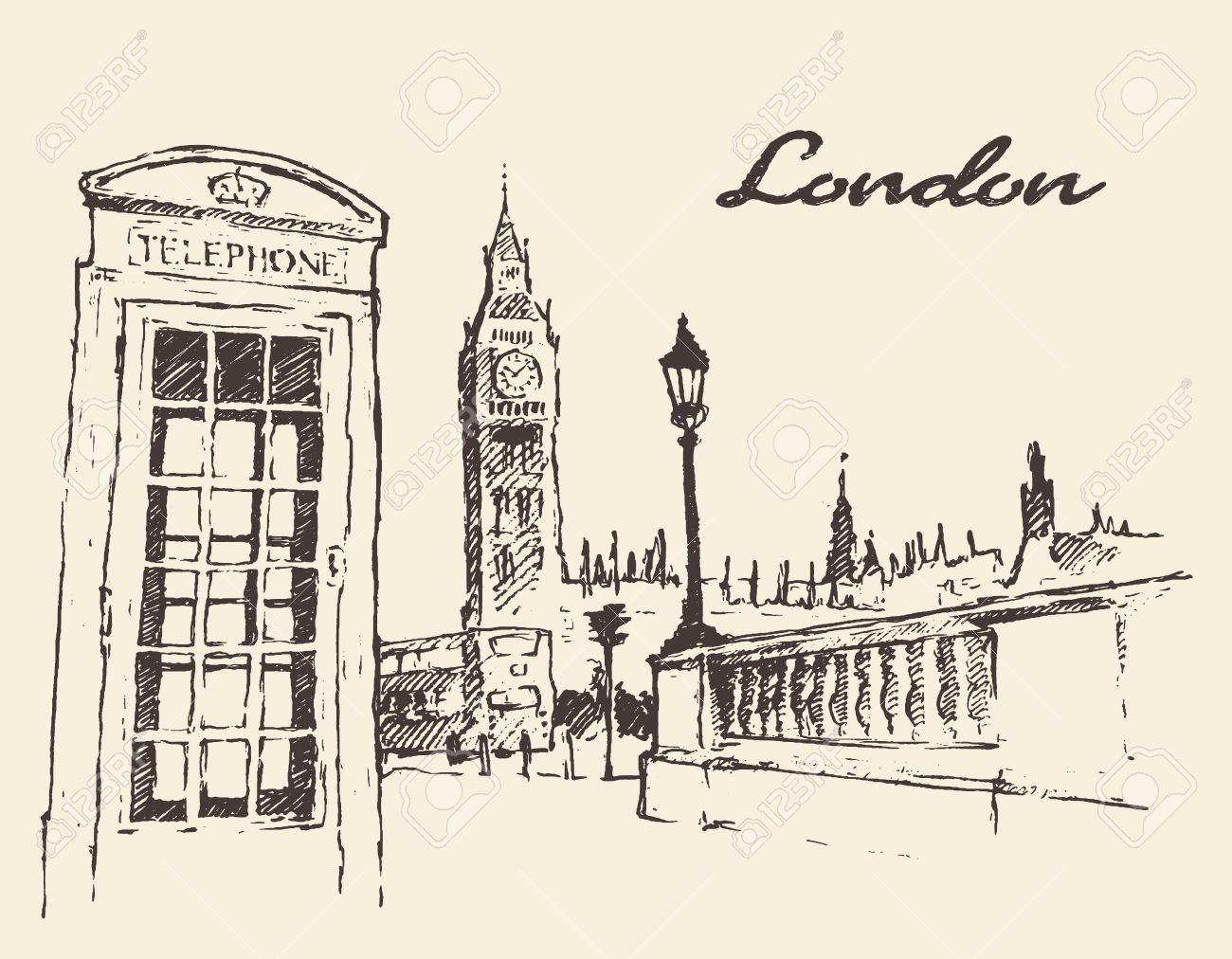 1300x1012 Streets In London England Bus Big Ben Red Telephone Box