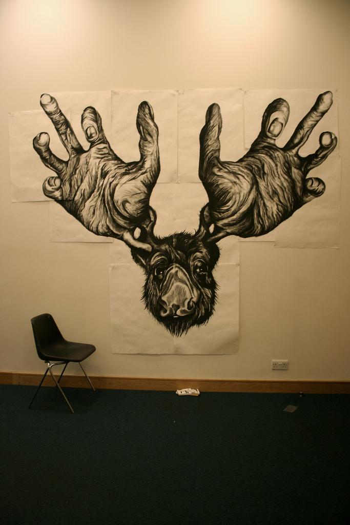 683x1024 Big Drawing Of A Moose Photo I Took