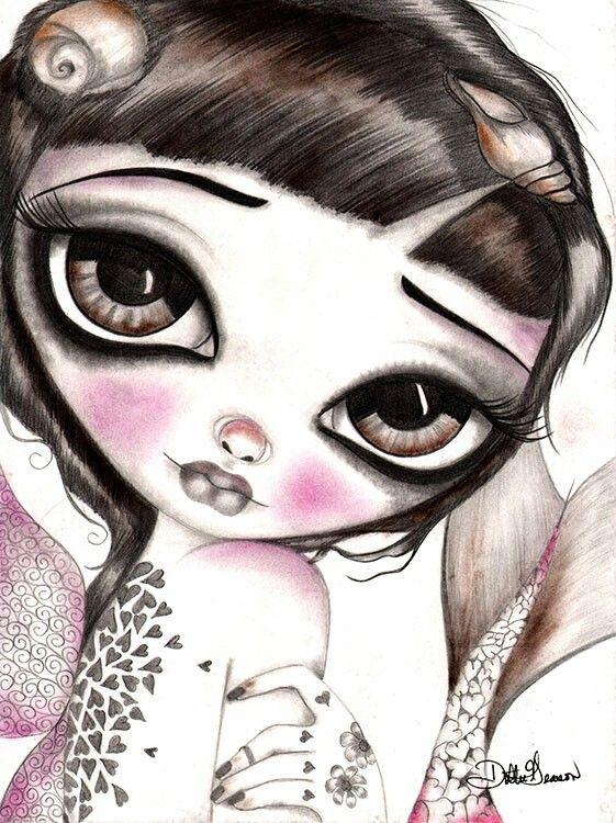 561x750 Dottie Gleason Dottie Gleason Big Eyes, Art Girl