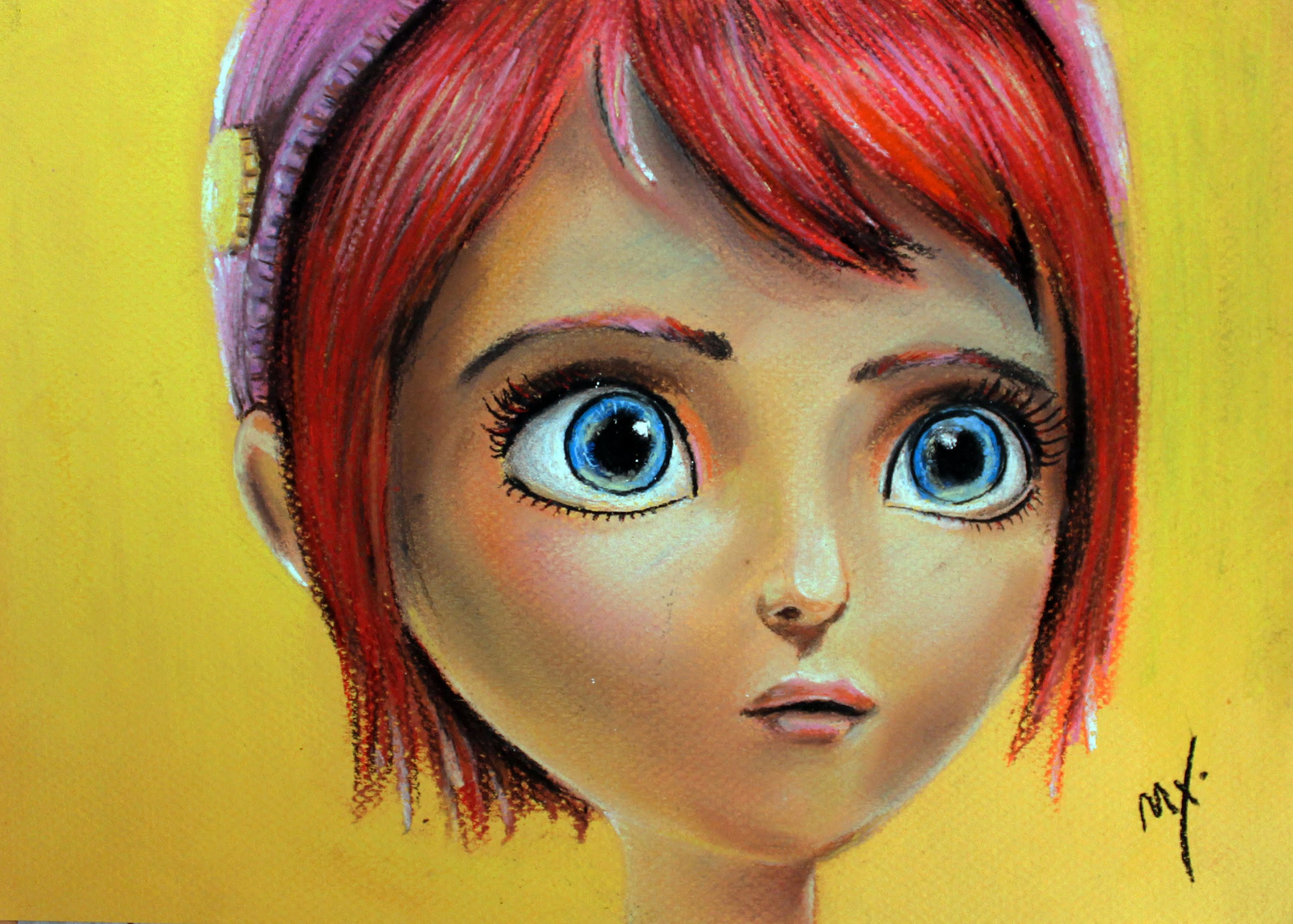 3000x2145 Drawing Tutorial How To Draw A Girl With Big Blue Eyes