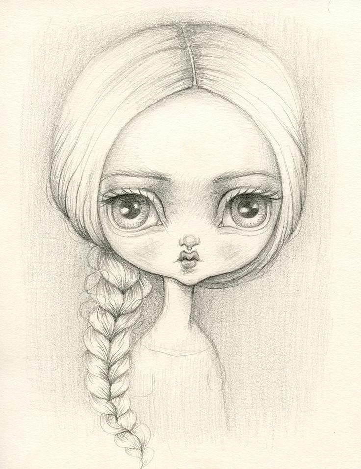 736x956 How To Draw A Blythe Doll