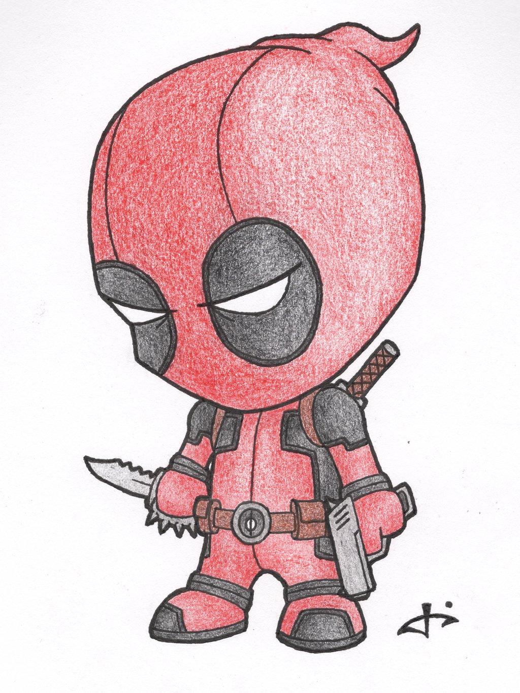 1024x1364 Big Head Cartoon Drawings Little Deadpooljosh308