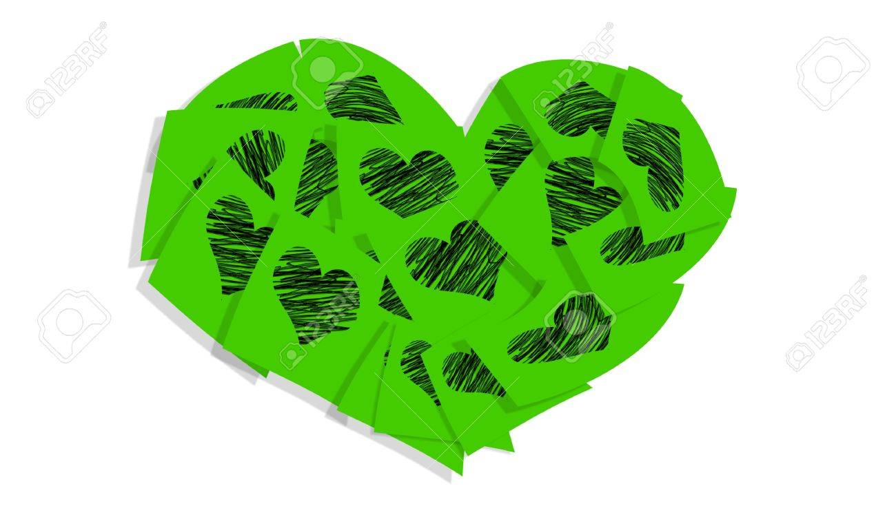1300x735 Brilliant Green Postit Notes With Heart Drawing In A Big Heart