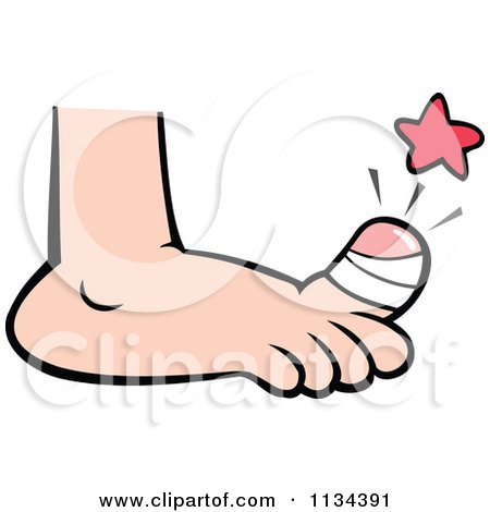 450x470 Cartoon Of A Sore Bandaged Toe