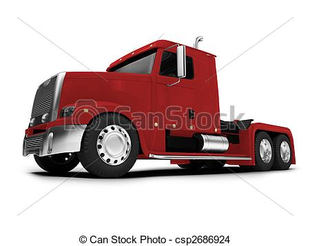 450x357 Bigtruck Isolated Red Front View. Isolated Big Car On White