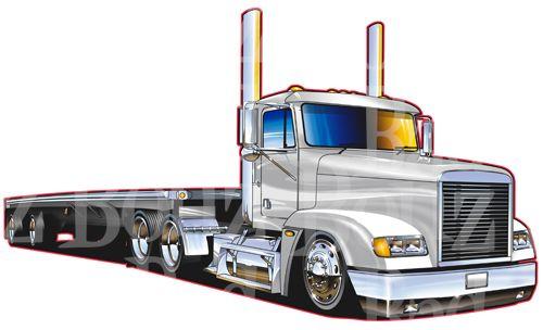 500x304 Freightliner 18 Wheeler Clipart