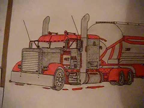 480x360 Peterbilt 379 Drawing