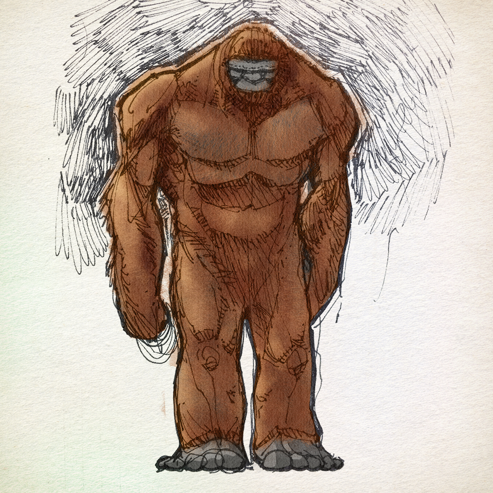 960x960 Bigfoot Sketch Satanfudge