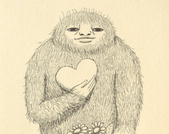 340x270 Bigfoot Drawings Etsy