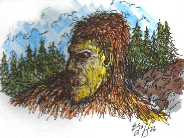 640x480 Oregon Bigfoot Art, Drawings And Paintings