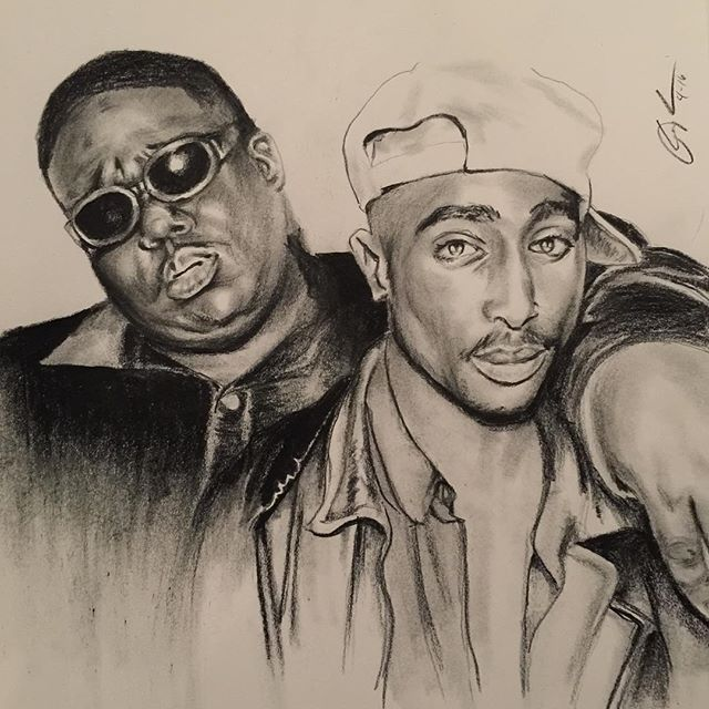 640x640 Pictures 2pac Drawing Biggie Smalls,