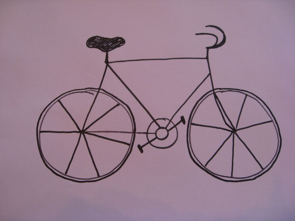 1024x768 Art With Mrs. Smith Contemporary Style Bicycle Art