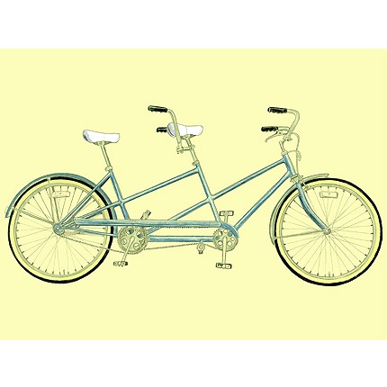 430x430 Tandem Bicycle Drawing