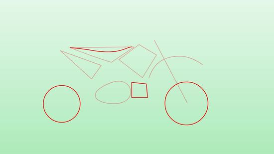 550x309 How To Draw Dirt Bikes 10 Steps (With Pictures)