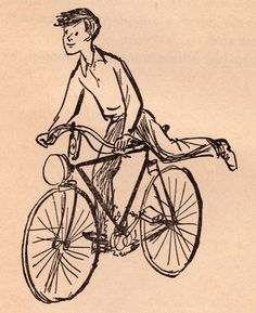 236x289 Person On Bike Drawing Man Riding A Bicycle Royalty Free Stock