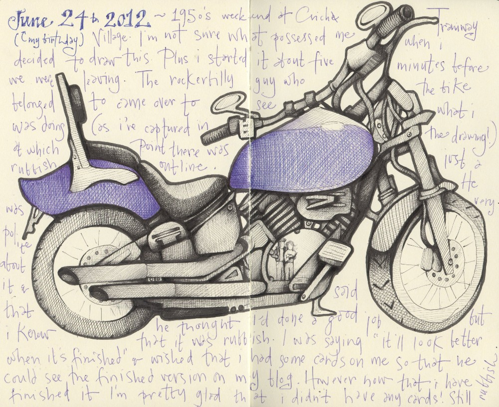 1001x817 Andrea Joseph's Sketchblog Motorcycle Emptiness