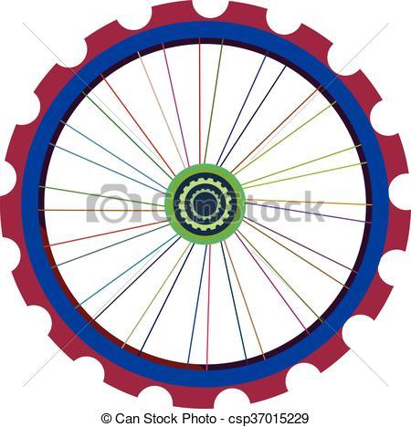 450x468 Bicycle Wheel Isolated On White, Vector Bike Wheels Vector
