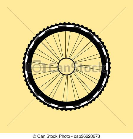 450x470 Vector Silhouette Of A Bicycle Wheel With Tyre And Spokes Vectors
