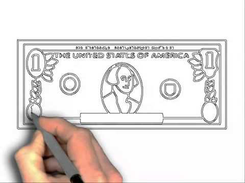 480x360 How To Draw 100 Dollar Bill And 3d Drawings On Paper