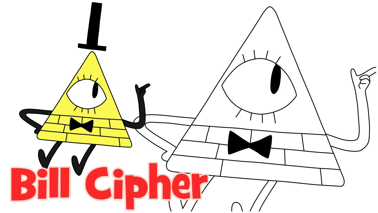 1280x720 How To Draw Bill Cipher Gravity Falls Step By Step Easy Drawing