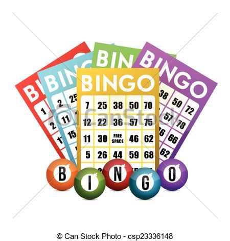 450x470 Color Bingo And Balls Illustration Design Over A White Eps